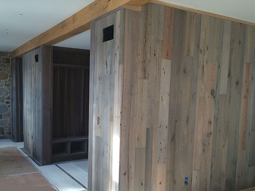 photo of fumed oak panels