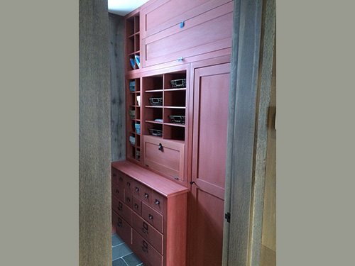 photo of rust colored cabinets with velvety matte finish