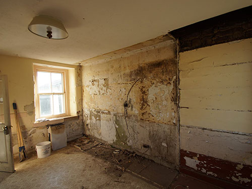 photo of ugly room soon to be transformed into a kitchen