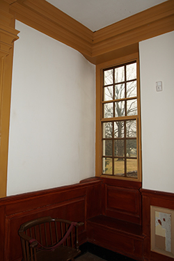 photo of wall with contoured plaster wall