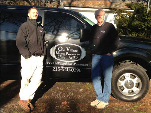 photo of Hutter and Ed Stulb with Old Village Master Painters truck