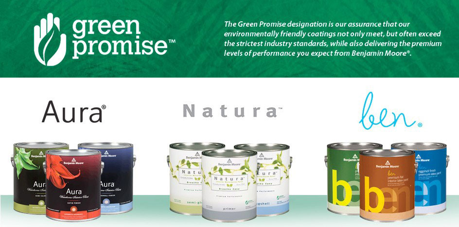 Benjamin Moore's Green Promise ~ environmentally friendly coatings