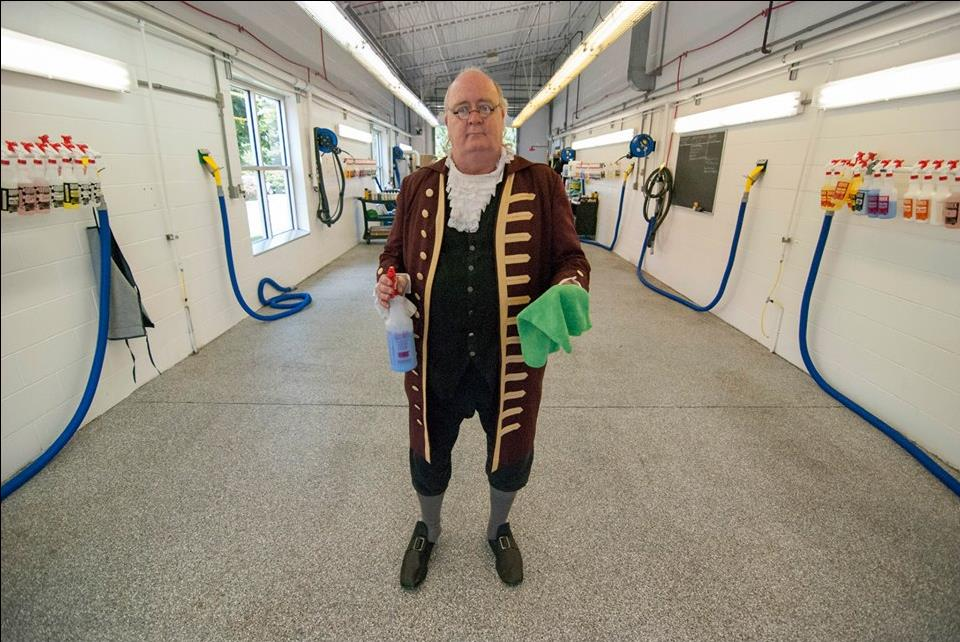 photo of Ben Franklin showing new Epoxy Floor