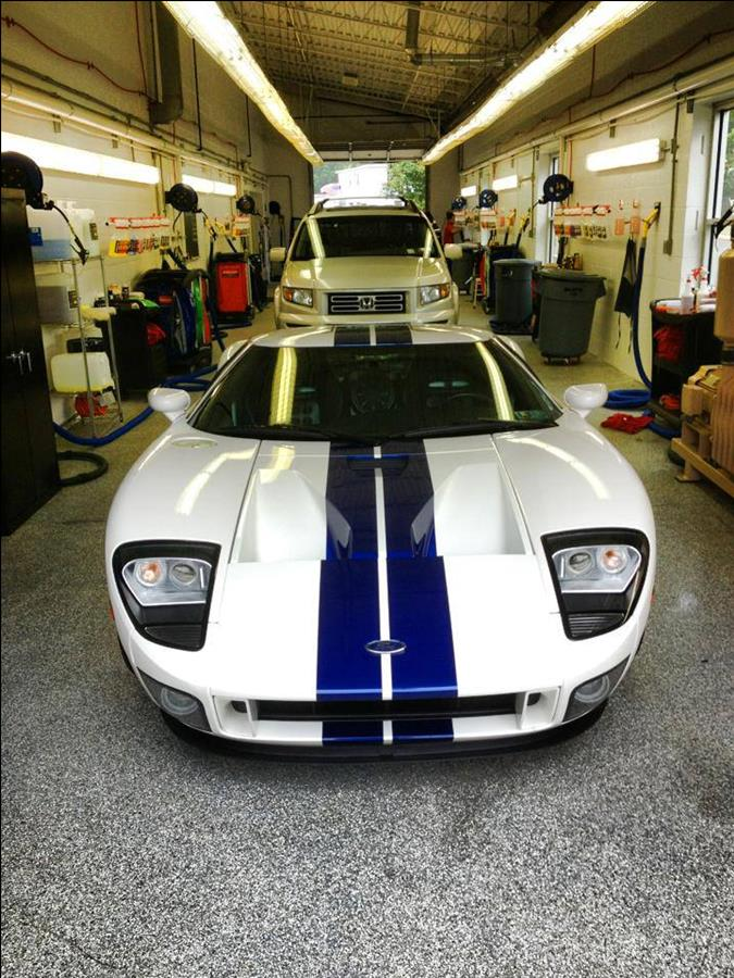 photo of Car Wash Detail Bay with Ford GT