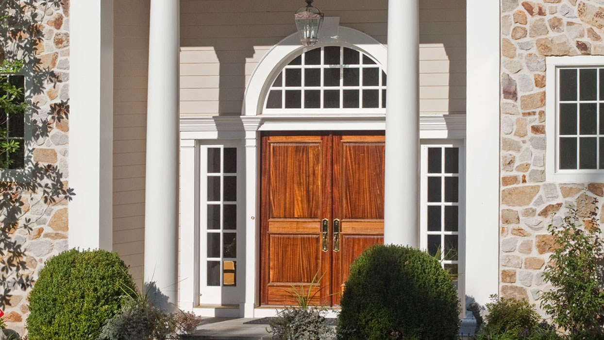 photo of Front Entrance with Stained Doors