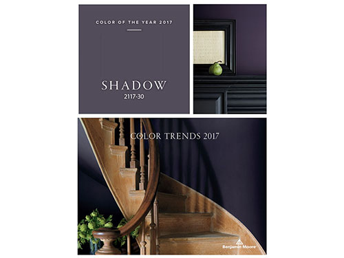 photo of benjamin color trends 2017 featuring shadow 2017-30